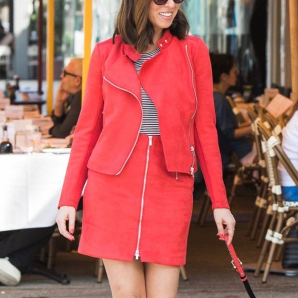 French Connection Dresses & Skirts - Red suede skirt